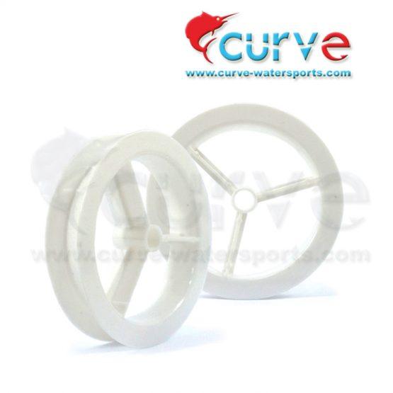 Klotok Plastik CURVE White